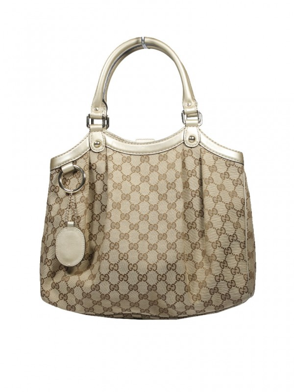 Bolsa Gucci* Sukey Monograma Bege