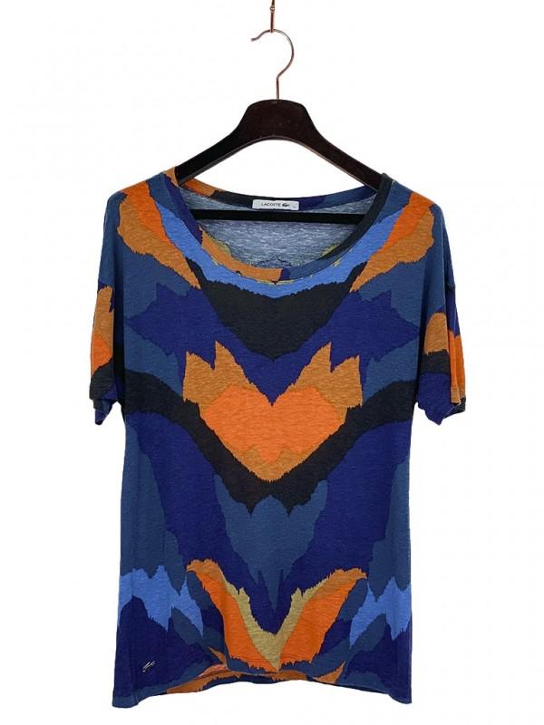 Camiseta Lacoste* Estampa Orgânica Colorida