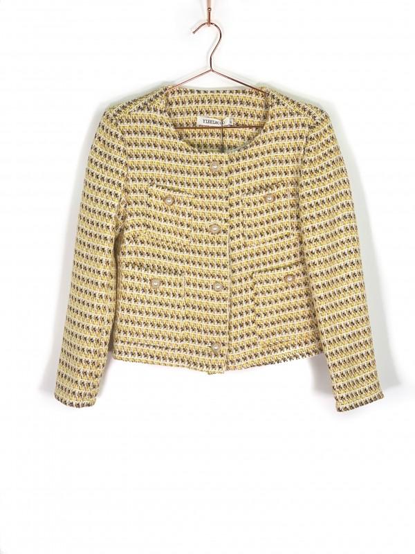 Jaqueta Yieelacoo Tweed Amarelo