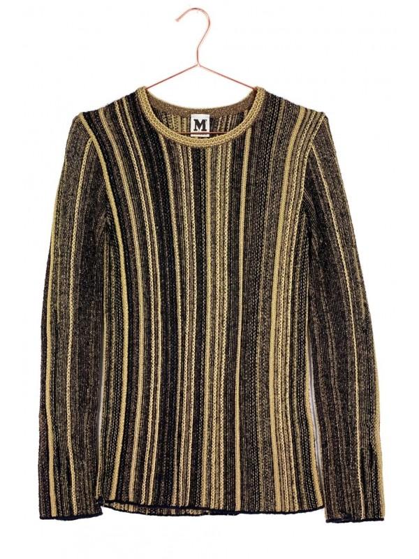 Blusa Missoni Lã Preta e Dourada