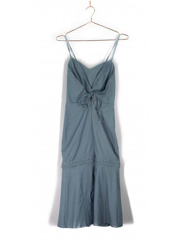 Vestido Midi Lale de Alça Azul