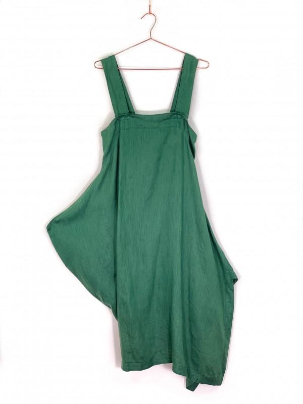 Vestido Midi Biasa Verde de Alça