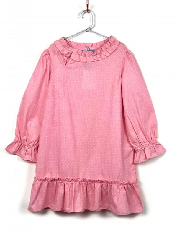 Vestido Infantil La Vick Poá Rosa