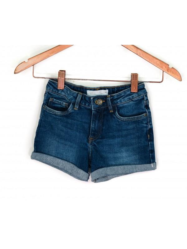 Shorts Infantil Zara Jeans Azul