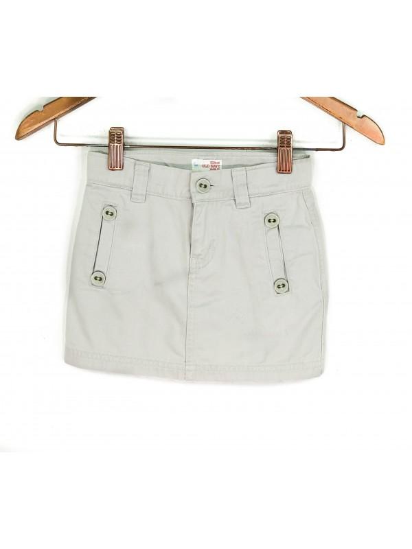 Saia Infantil Old Navy Jeans Cinza