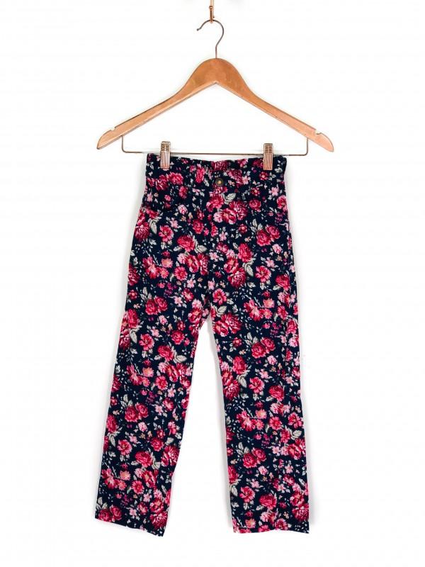 Calça Infantil Estampa Floral Colorida