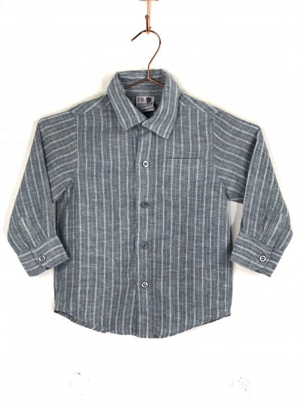 Camisa Infantil P.B. SPORT Listrada Azul
