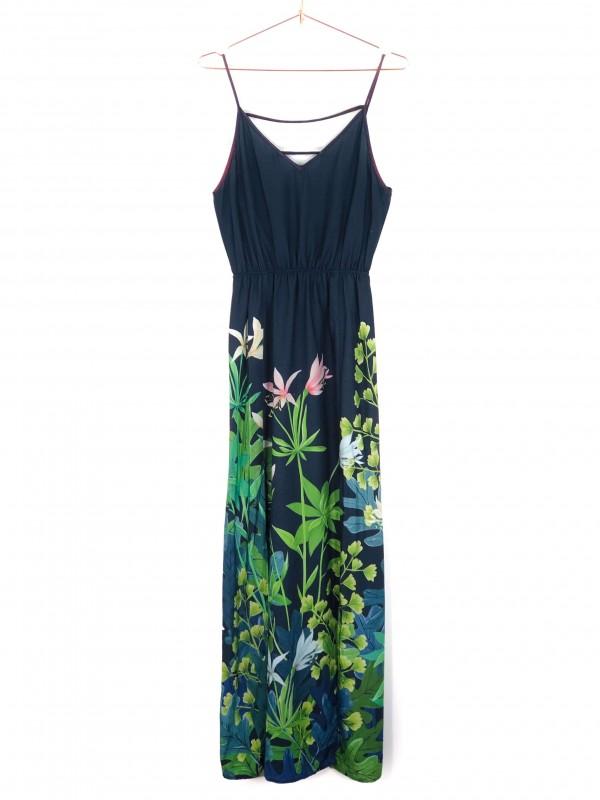 Vestido Longo Le Retrô de Alças Estampa Floral