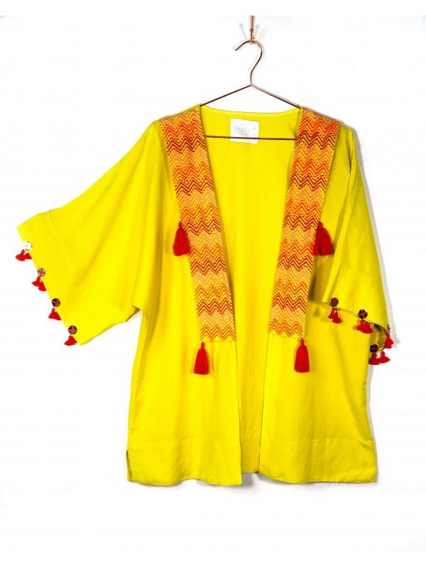 Kimono Lado Basic Amarelo