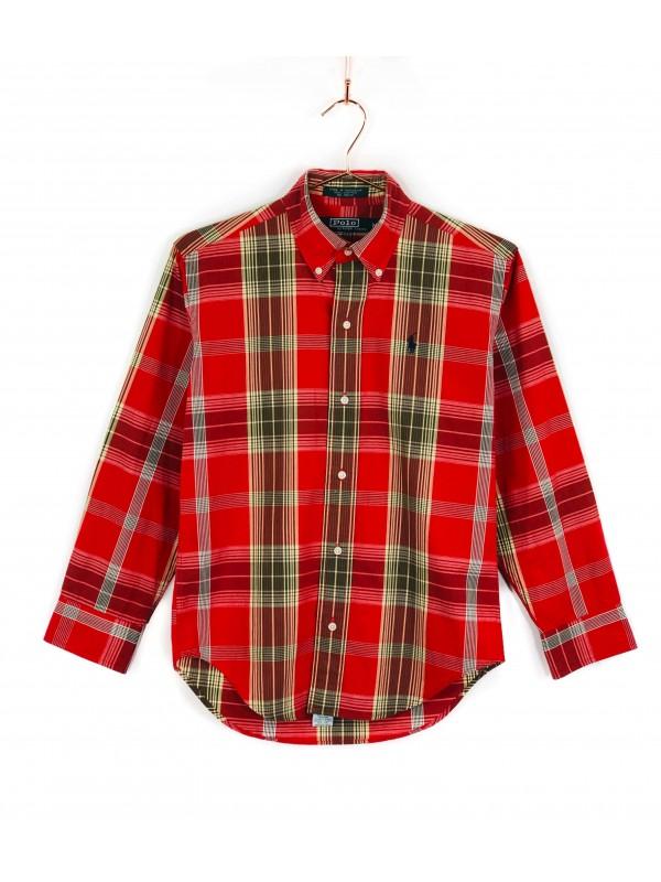 Camisa Infantil Polo Ralph Lauren Xadrez Vermelha
