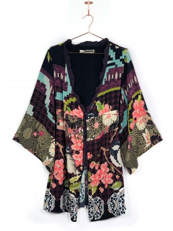 Kimono Adriana Barra Estampado Colorido