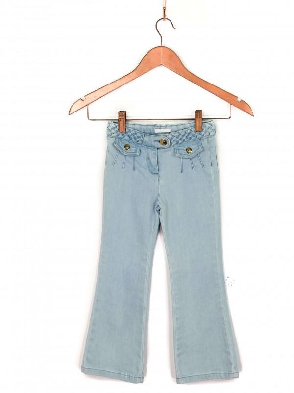 Calça Infantil Chloé Jeans Azul Claro