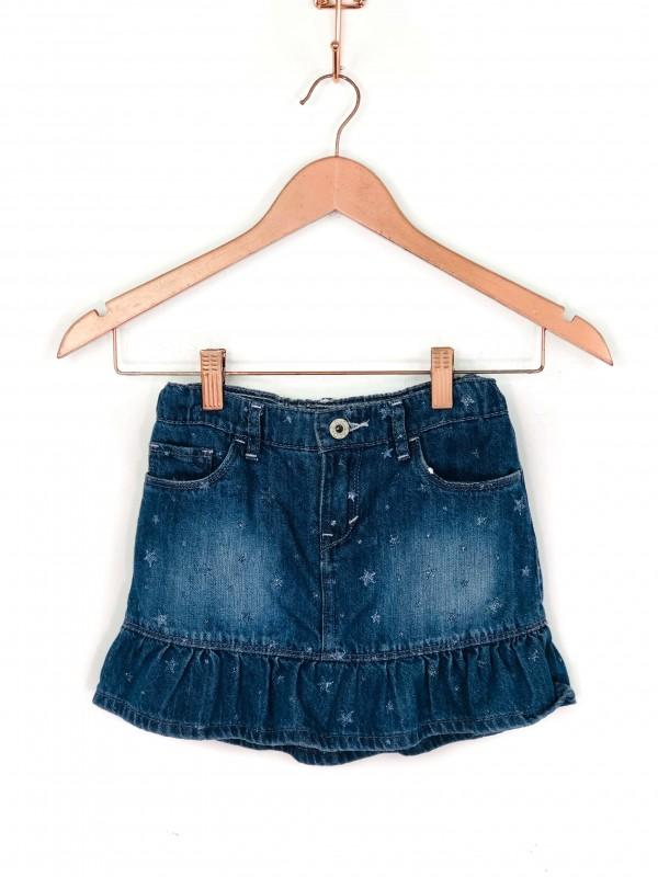 Saia Infantil Levi's Jeans Estrelinhas Pratas
