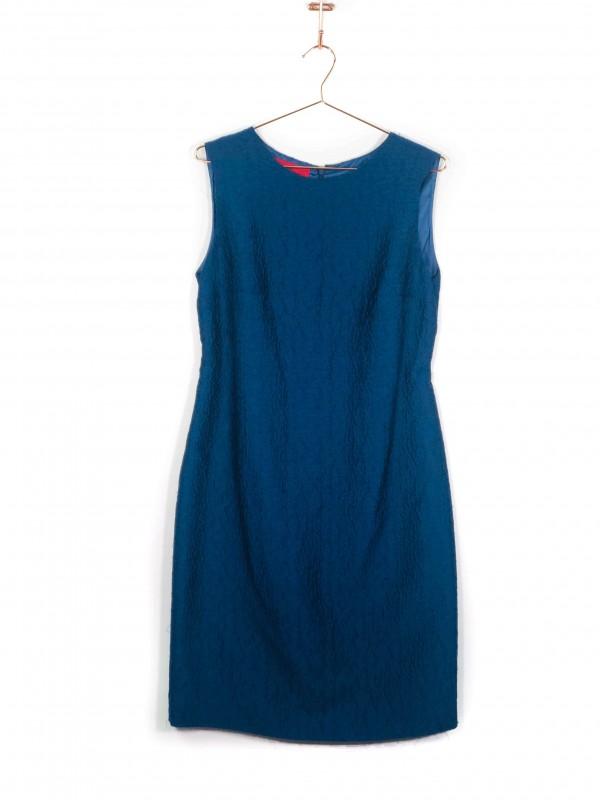 Vestido Regata Carolina Herrera Texturizado Azul