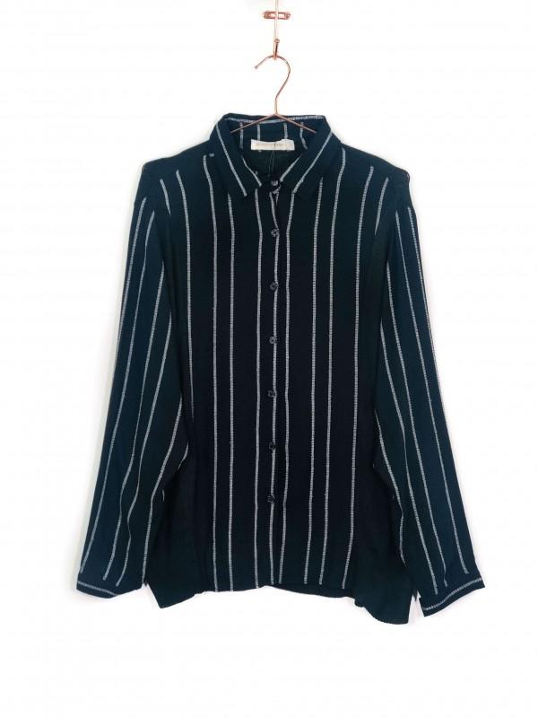 Camisa Juliana Gevaerd Listrada Preta
