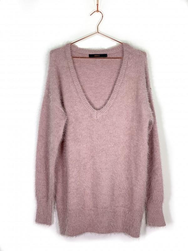 Suéter Animale Tricot Rosa