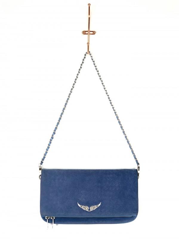 Bolsa Zadig & Voltaire Camurça Azul