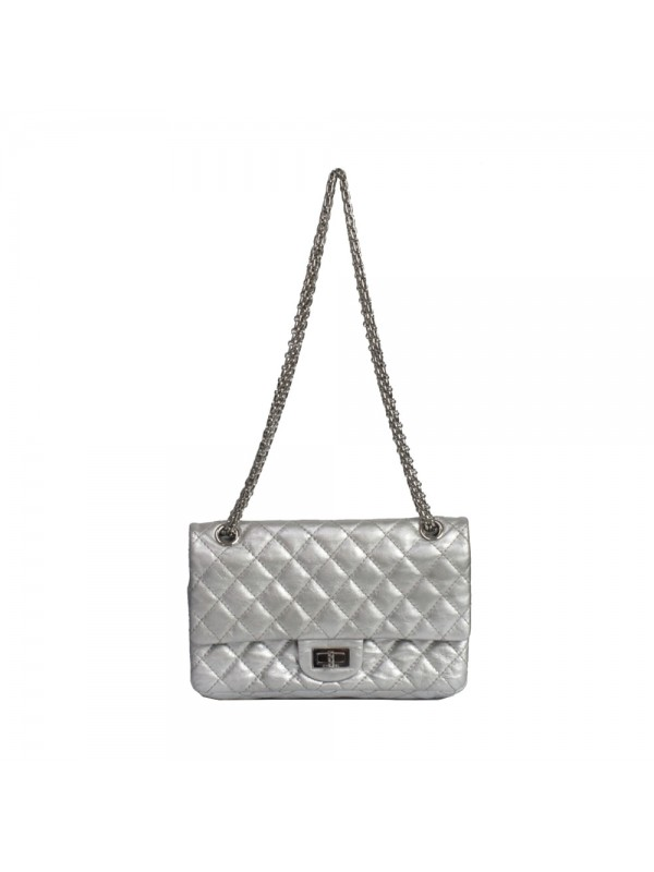 Bolsa Chanel* Reissue Couro Prata