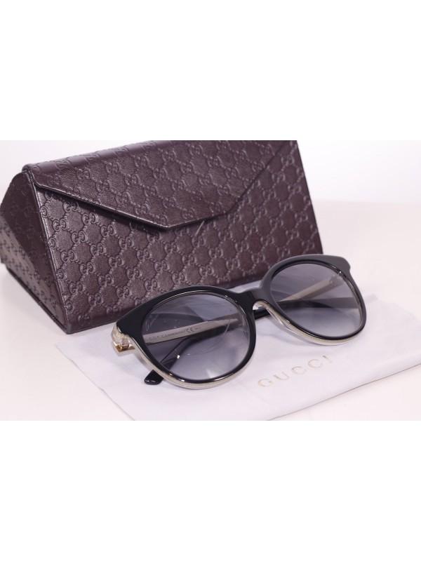 Óculos Gucci Preto e Dourado