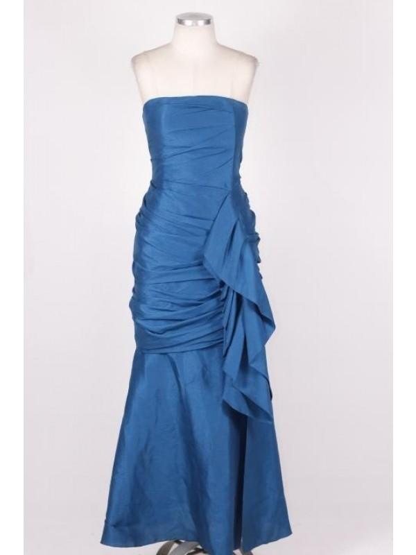 Vestido Clo Orozo Crepe Azul*