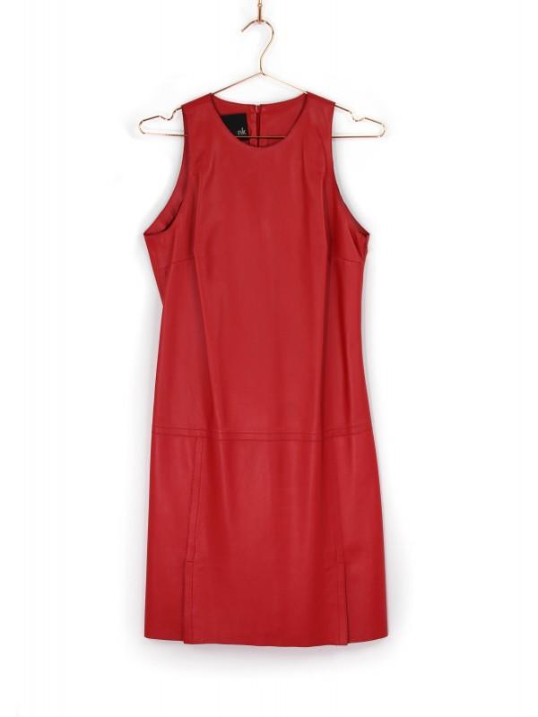 Vestido Regata Talie NK de Couro Vermelho