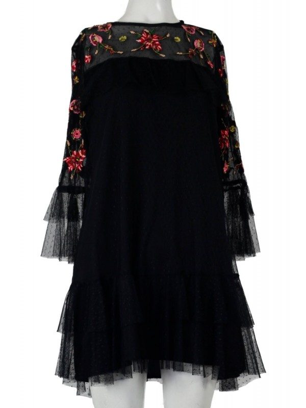 Vestido Zara Preto em Tule.