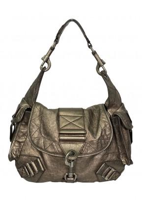 Bolsa Christian Dior* Rebelle Prata Envelhecida
