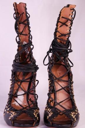Sandália Alaïa High Heel Strappy Leather