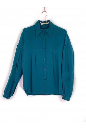 Camisa Raia de Goeye Verde Petróleo