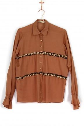 Camisa Raia de Goeye Terracota Babados