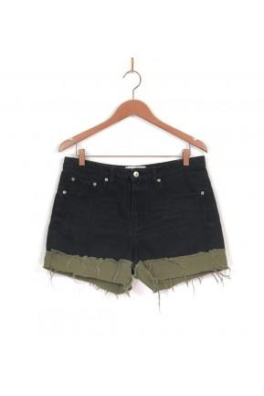 Short Zara Jeans Escuro