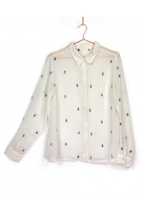 Camisa Branca Aplicações