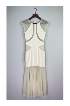 Vestido Longo Triya Tule Off White