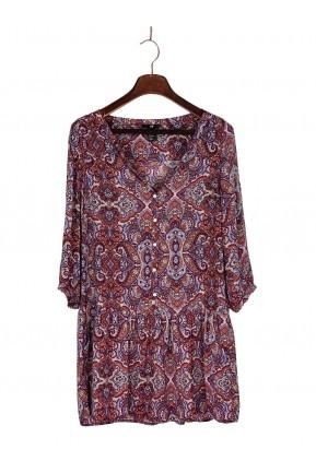 Vestido H&M Estampa Paisley Colorido
